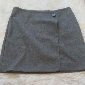 Loft grey zip up skirt